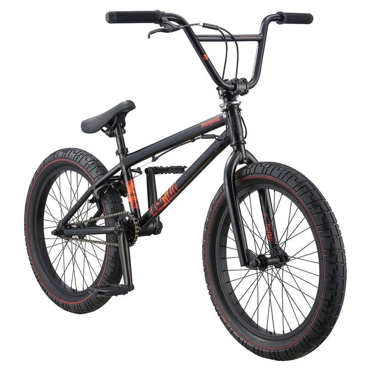 Youth Mongoose 20-Inch Legion L40 BMX Bike, Black