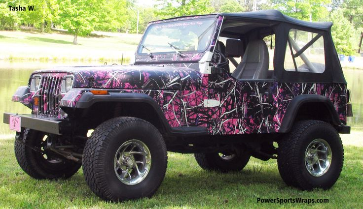 Want This Muddy Girl Moonshine Camo Wrap Jeep