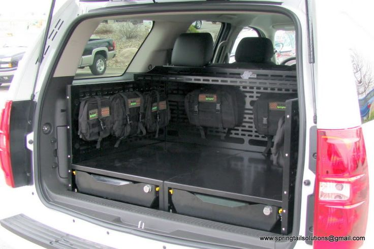 SUV trunk storage