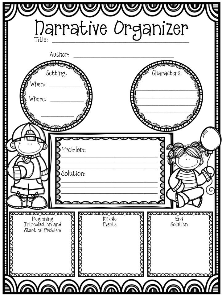 "Hoping this freebie gets your students on the ""write"" track when it comes to organizing their ideas and writing a narrative!"