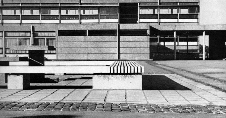 Elementary and Secondary Modern School (1965) in Bochum, Germany, by Groth + Lotzmann