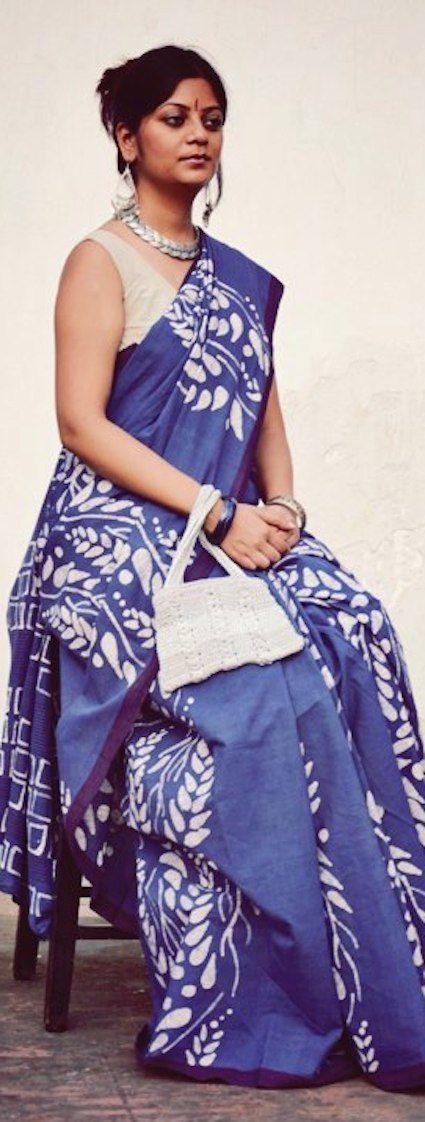 Batik on handwoven cotton by Moksha - original pin by @webjournal