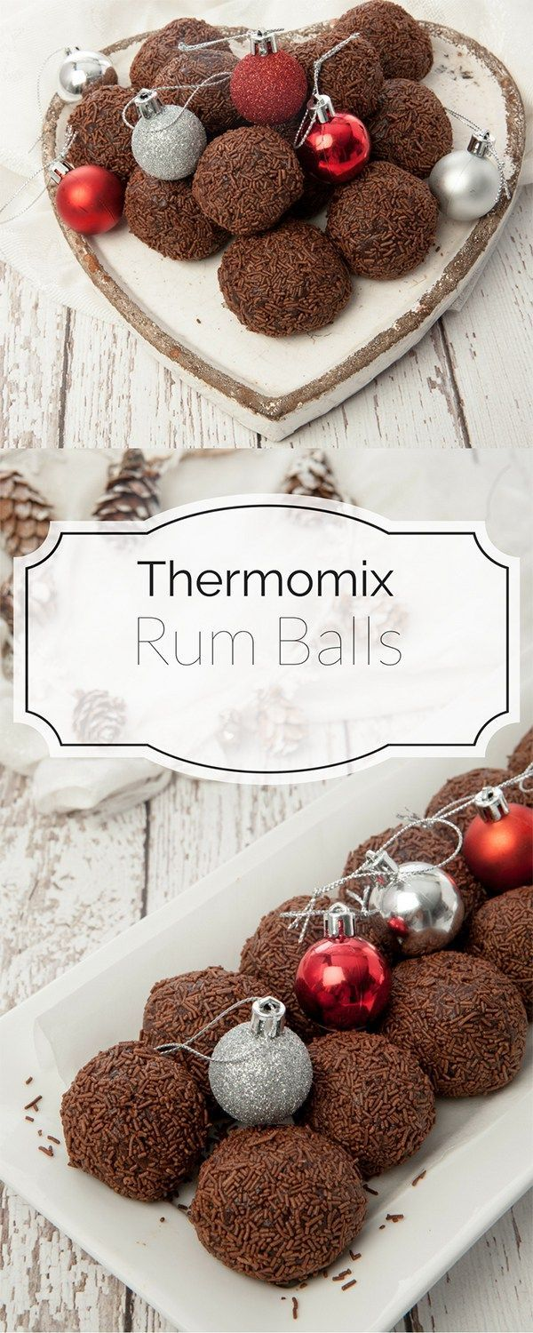 Thermomix Christmas Rum Balls -Pin Me