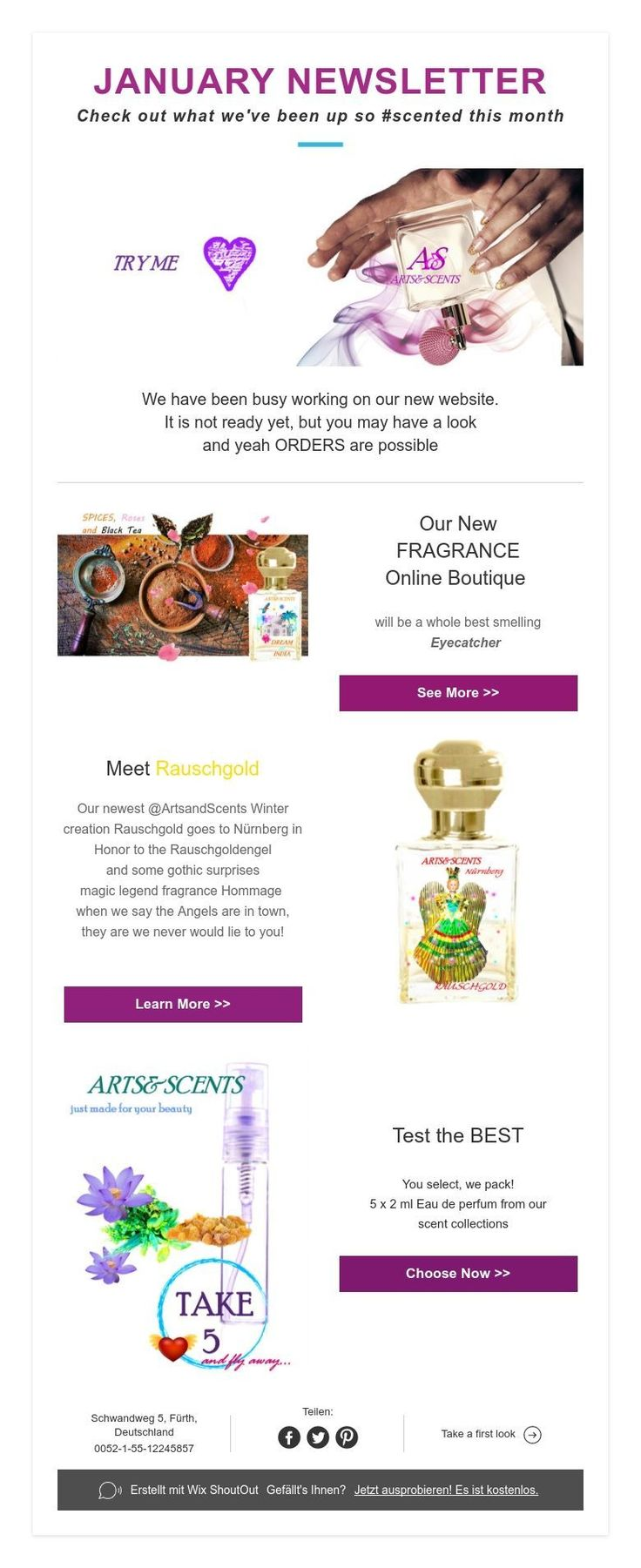 JANUARY NEWSLETTER  Check out what we've been up so #scented this month