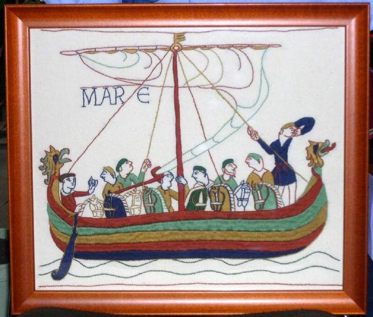 Tapisserie de bayeux un grand ouvrage point compt pinterest tapestry - Point p bayeux ...