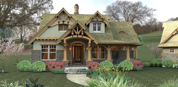House plans with only 1,421 square feet dont normally showcase this many features! Part of this homes popularity may be due to the fairytale front porch, which embraces the formal dining room.