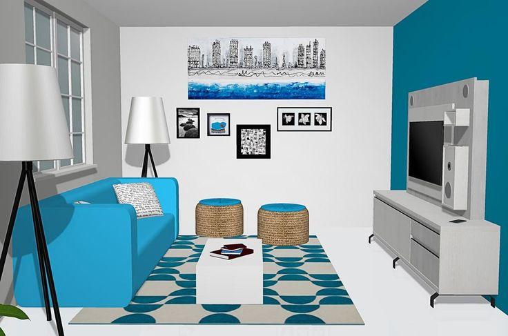 Salón con muebles del catálogo Kay con mueble y panel t