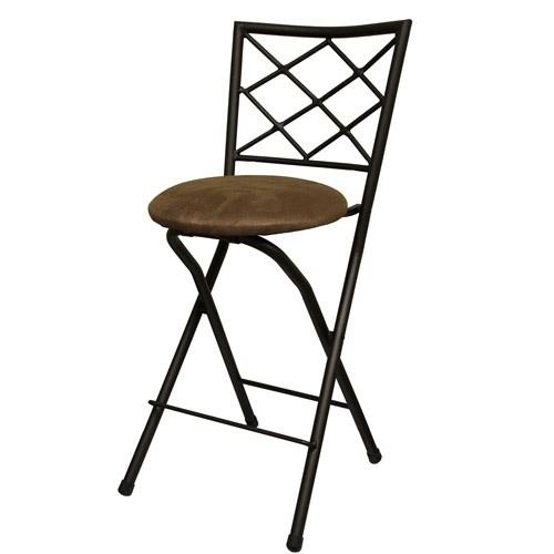 Diamond X Back Folding 24 Counter Stool Bronze With