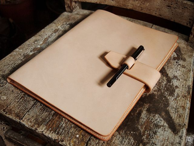 Legal pad cover by Hollows Leather, via Flickr