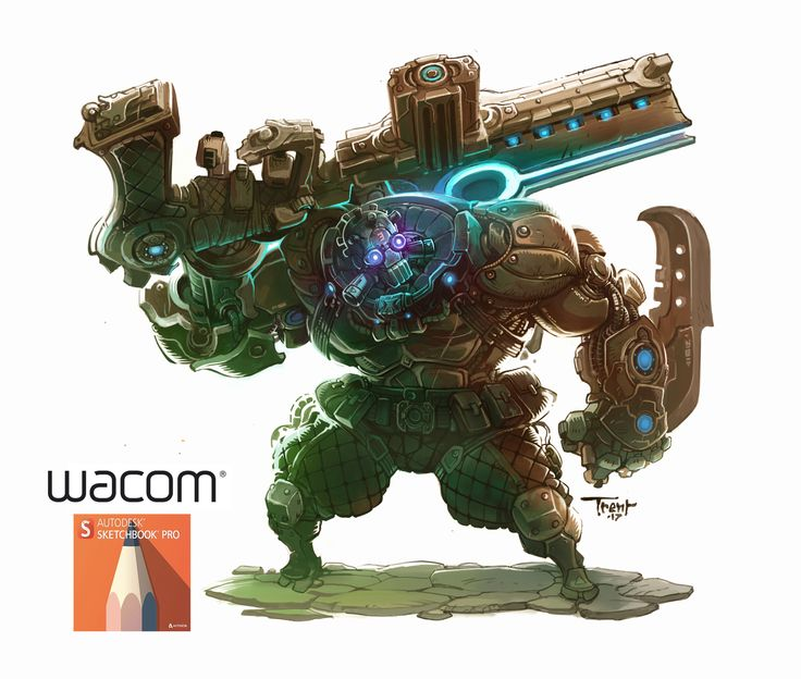 ArtStation - Heavy Cyborg character design, Trent Kaniuga