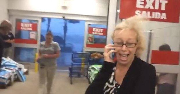 Amazing Florida Storm Footage: Wind Tears Through Lowe's Hardware Store Sending People Screaming