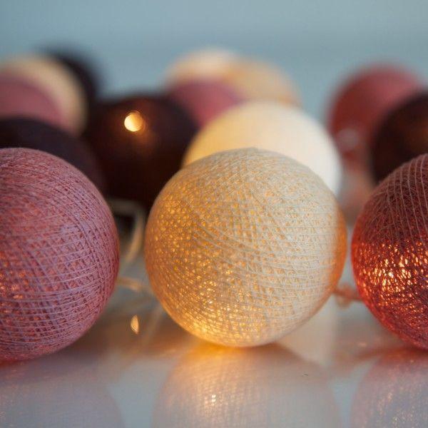 Svítící řetěz Irislights Dusty Pink, 20 světýlek