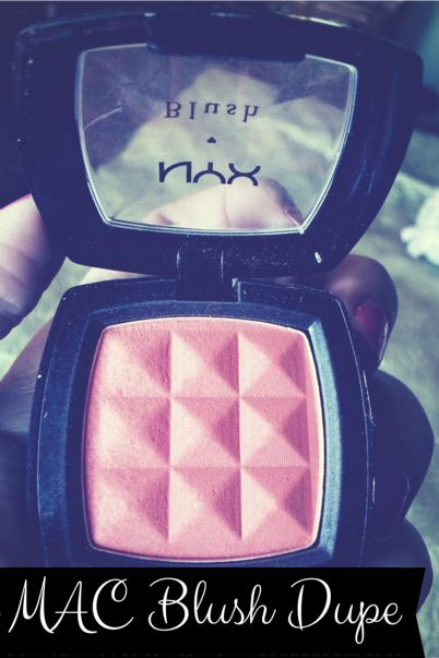 Looking for a dupe for MAC Peaches blush? This blush is an almost exact dupe for a fraction of the cost.