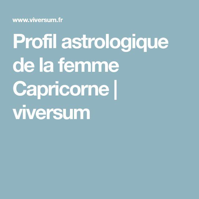 Profil astrologique de la femme Capricorne   viversum