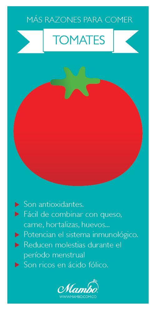 Beneficio de los tomates. www.mambo.com.co Frutas y verduras Mambo