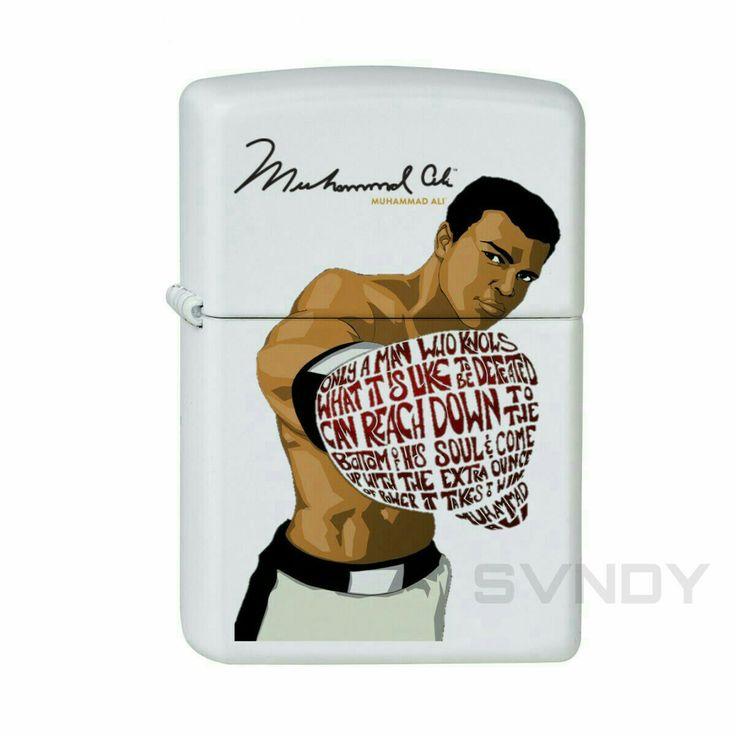 Muhammad Ali Zippo White Matte