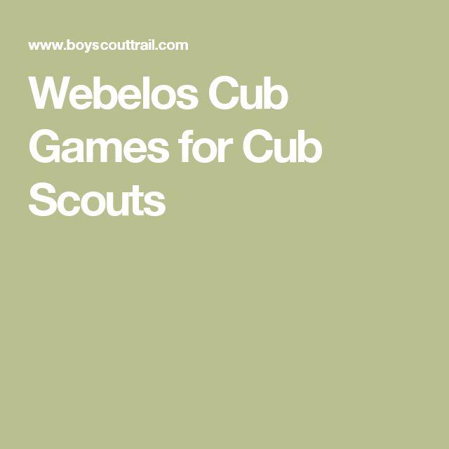 Webelos Cub Games for Cub Scouts