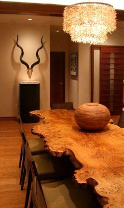 Slab Tables at Loki Custom Furniture. Boston furniture maker Jamie Cumming seen on HGTV Urban Oasis 2013