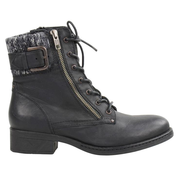 Black lace-up booties - Zwarte veterlaarsjes