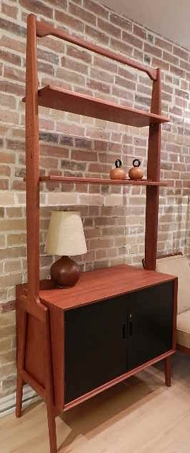 this is a really unique looking danish modern bookshelf divider