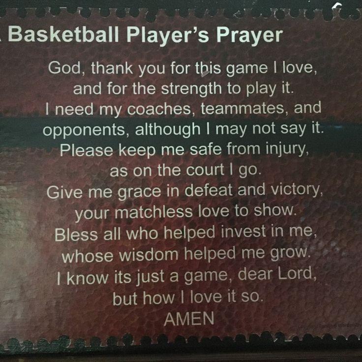 Basketball Player's Prayer Mounted, Basketball Poem on Canvas, Athlete's Prayer…