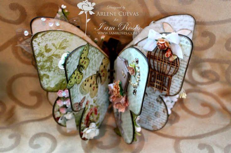 """Butterfly Kisses"" mini album: Beautiful Butterflies, Butterflies Album, Minis Album, Butterflies Book, Butterflies Kiss, Parties Favors, Card, Princesses Parties, Altered Book"