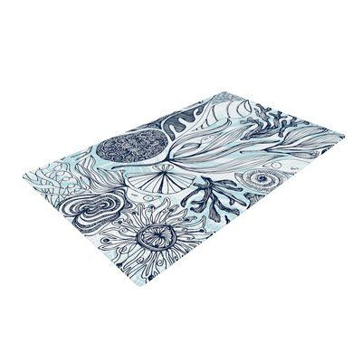 East Urban Home Anchobee Marina Blue/Aqua Area Rug Rug Size: 2' x 3'