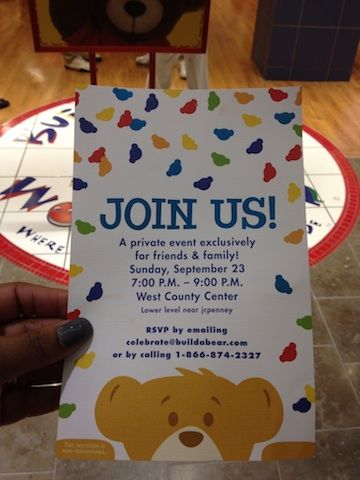 Build A Bear Party  Build a Bear Workshop Private Event 1