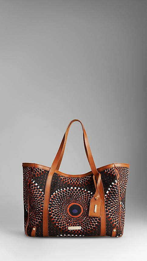 MEDIUM SUNBURST CANVAS TOTE