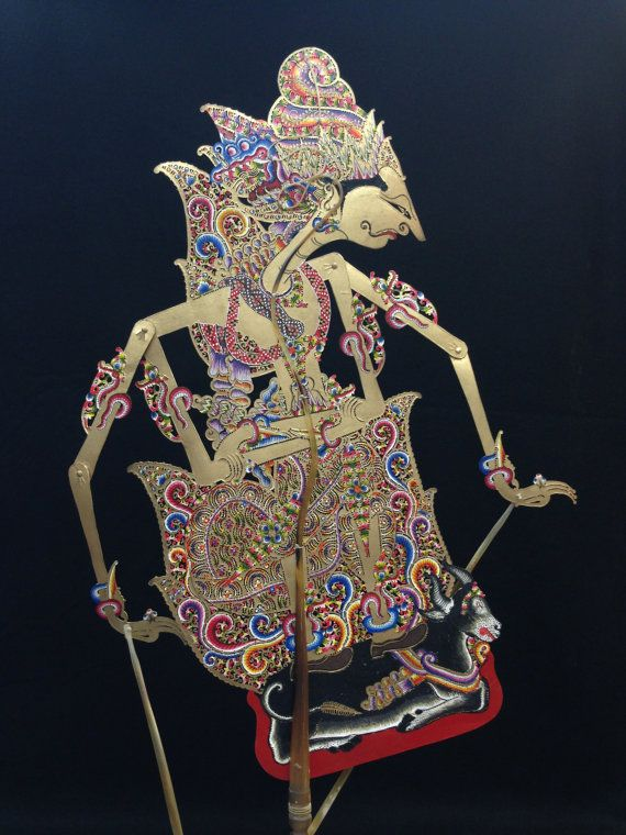 Wayang Kulit Shadow Puppet Sumantri from by EthnicArtandJewelry, $129.95