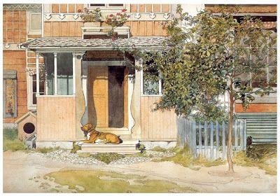 Il giardino di Fasti Floreali: Carl Larsson | la famiglia nello Stile Tradizionale Nordico- watercolors