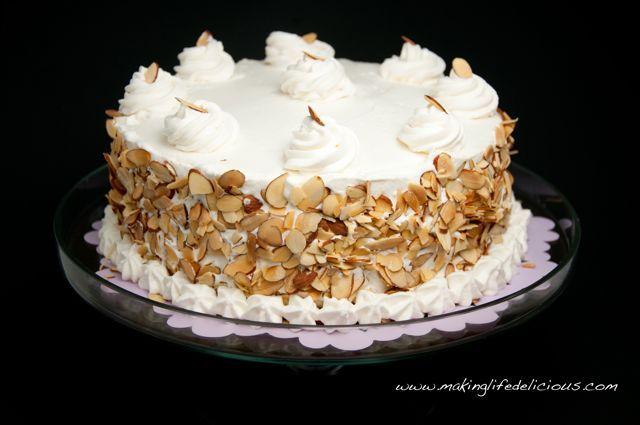 Italian Wedding Cake aka Cream Cake aka Rum Cake | Making Life Delicious | Livin' The Pie Life