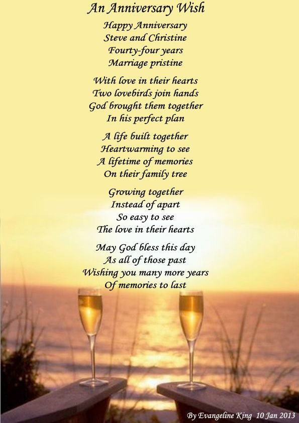 Anniversary Poems For My Parents  An Anniversary Wish -2896