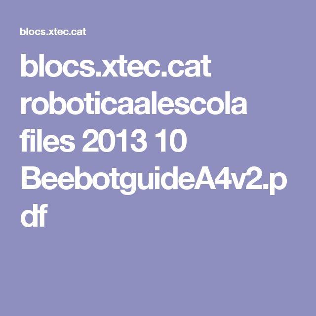 blocs.xtec.cat roboticaalescola files 2013 10 BeebotguideA4v2.pdf