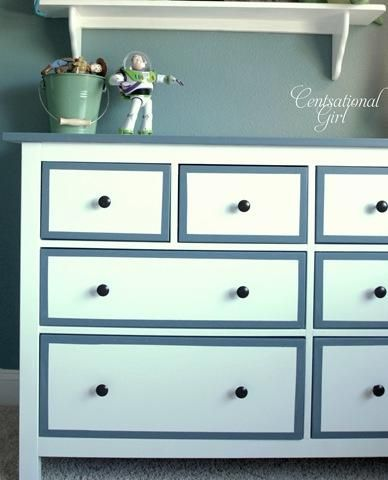 DIY IKEA dresser: Paintings Furniture, Paintings Laminate Furniture, Boys Rooms, Boys Dressers,  Commode, Hemnes Dressers, Ikea Hacks, Ikea Hackers, Dressers Ideas