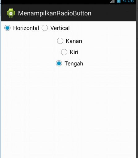 Tutorial Android 6 - Cara Membuat Radio Button