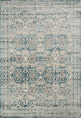 Blue Medallion Oriental Distressed Discount Area Rugs (5x8) (8x11) - Bargain Area Rugs