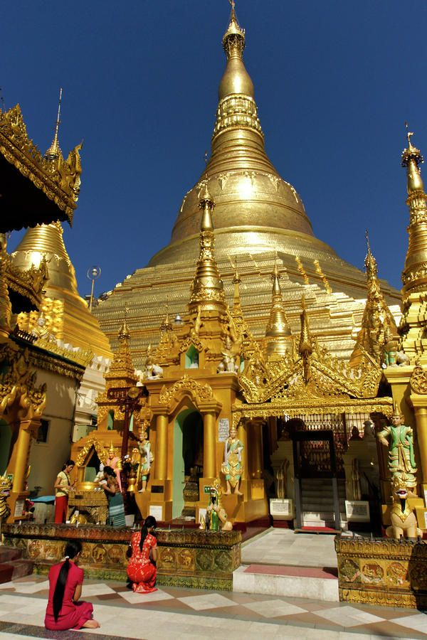 Golden Pagoda, Rangoon, Burma