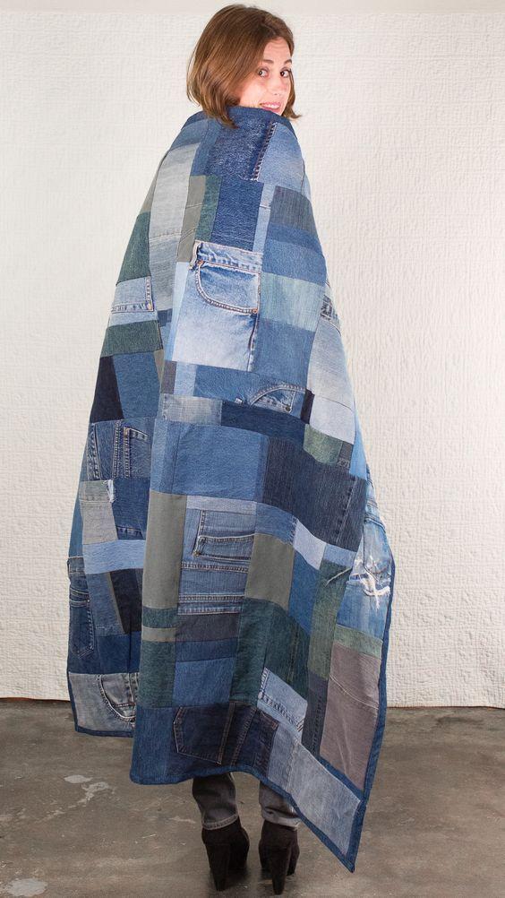 Quilt | SilkDenim #silkdenim #upcycle #denim #quilt: