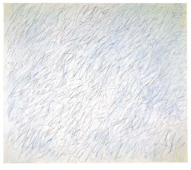 Cy Twombly, (1928-2011), Nini's Painting, 1971. Kunstmuseum Basel. © CY TWOMBLY FOUNDATION / PHOTO MARTIN P. BÜHLER.