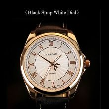 YAZOLE Quartz-Watch Men Business Wristwatch Roman Scale Clock Watches Relogio Male Leather Strap Alloy Case Wrist Watch LM93(China (Mainland))