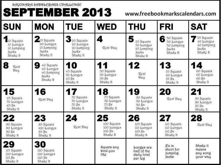 Best 25+ September workout challenge ideas on Pinterest ...