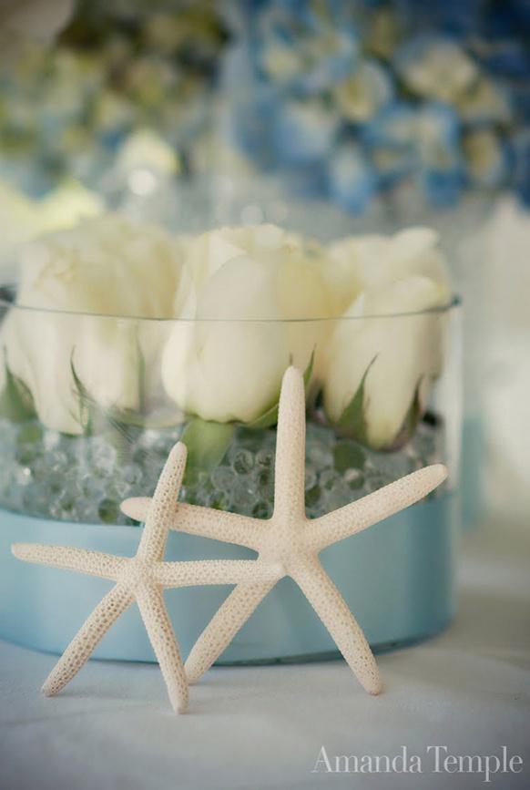 Beach Themed Wedding Centerpiece