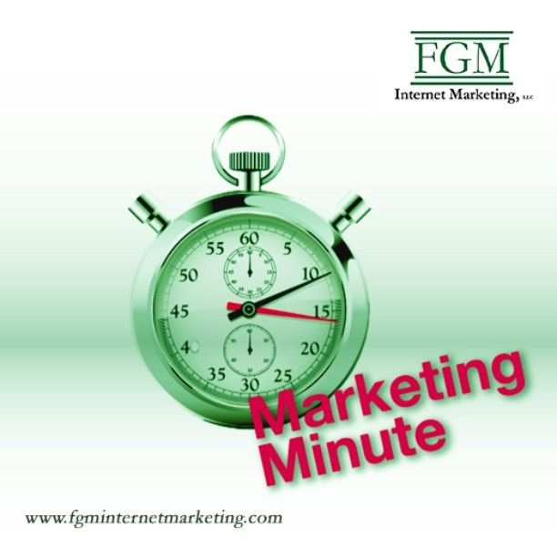 Get ready! Our first marketing minute post will be tomorrow. Meet the founder of FGM Internet Marketing, LLC and hear about what's in store for the Marketing Minute each Tuesday. #FGMMarketingMinute #internet marketing #SEO #searchengineoptimization #socialmediamarketing