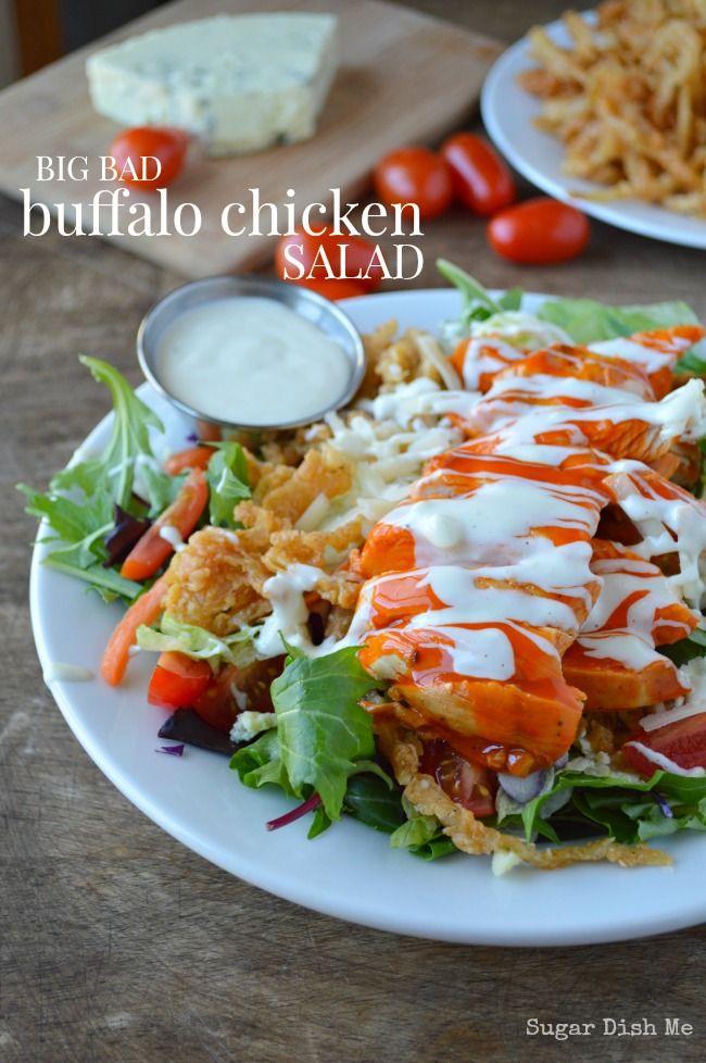 Big Bad Buffalo Chicken Salad Recipe on Yummly. @yummly #recipe