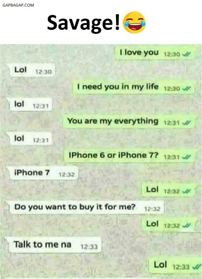 Hilarious Text About Love vs. LOL