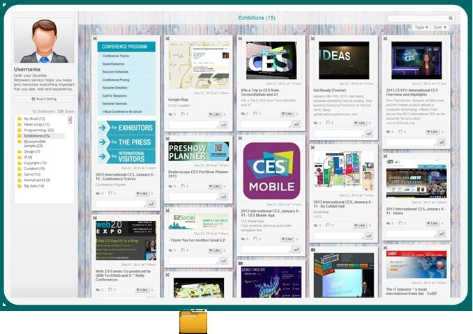 Wepware: applicazione free per la cura dei contenuti, raccogliere, organizzare  e condividere le risorse presenti sul web