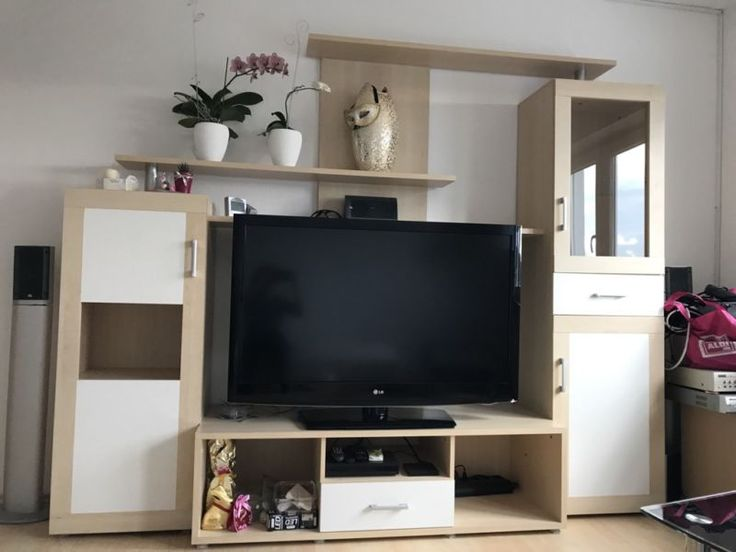 Cute Wegen Umzug g nstig abzugeben ucbr ueSchub ganz rechts funktioniert nicht mehr einwandfrei glaube Anbauwand Wohnwand Schrank Wohnzimmmer TV Schrank in