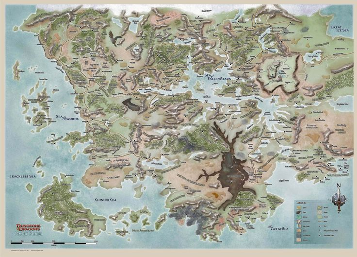 Forgotten Realms High Rez Map.