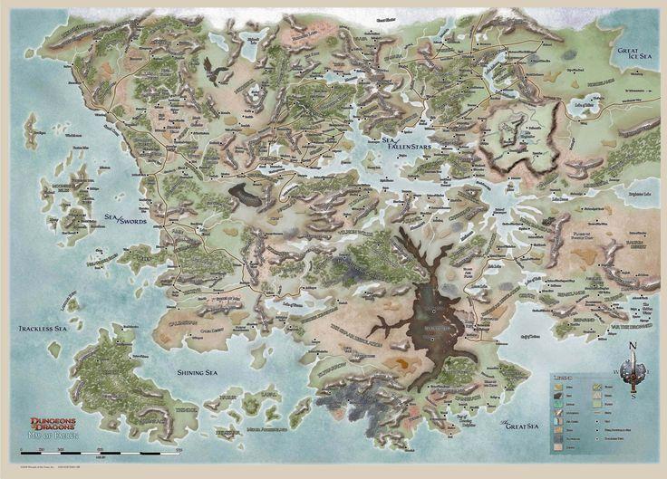 Forgotten Realms High Rez Map.